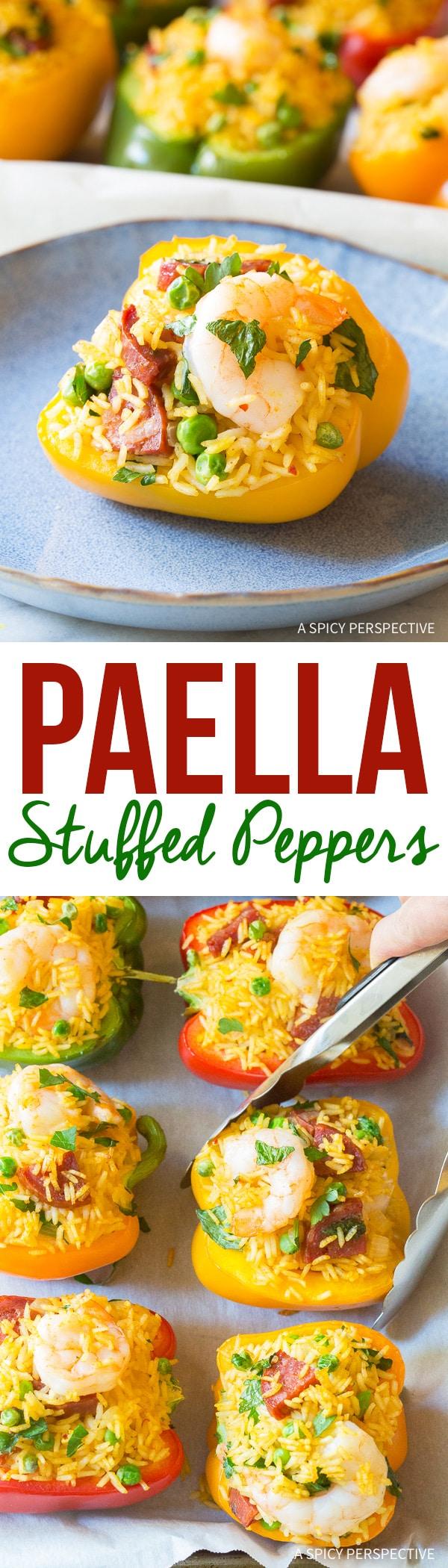 Spanish Paella Stuffed Peppers Recipe