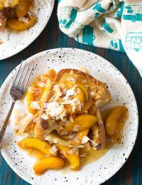Peach Pina Colada Stuffed French Toast Recipe