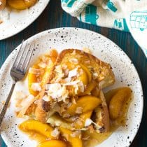 Peach Pina Colada Stuffed French Toast Recipe