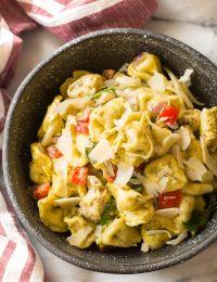 Pesto Chicken Baked Tortellini Recipe