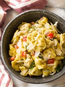 Pesto Chicken Baked Tortellini Recipe