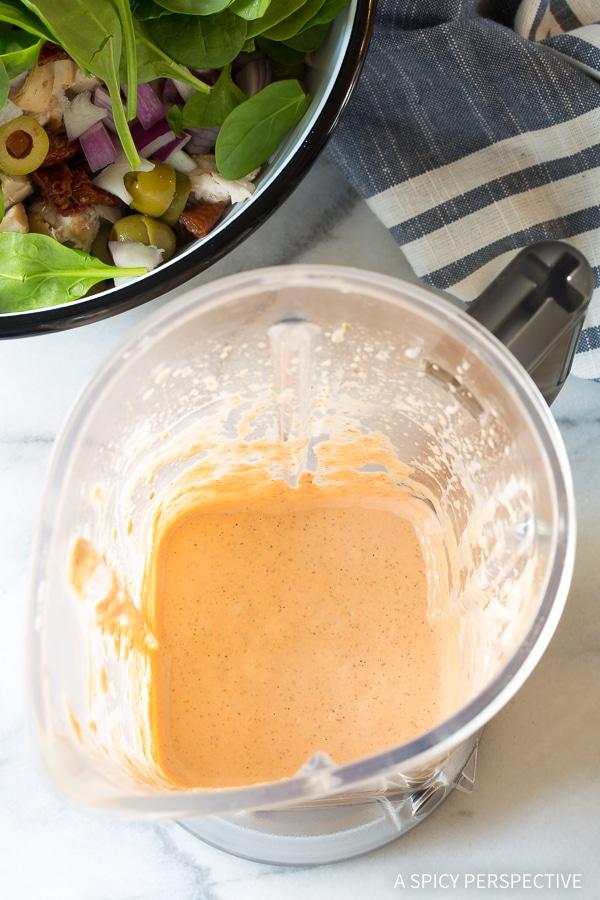 Creamy Sun Dried Tomato Chicken Pasta Salad Recipe #Summer