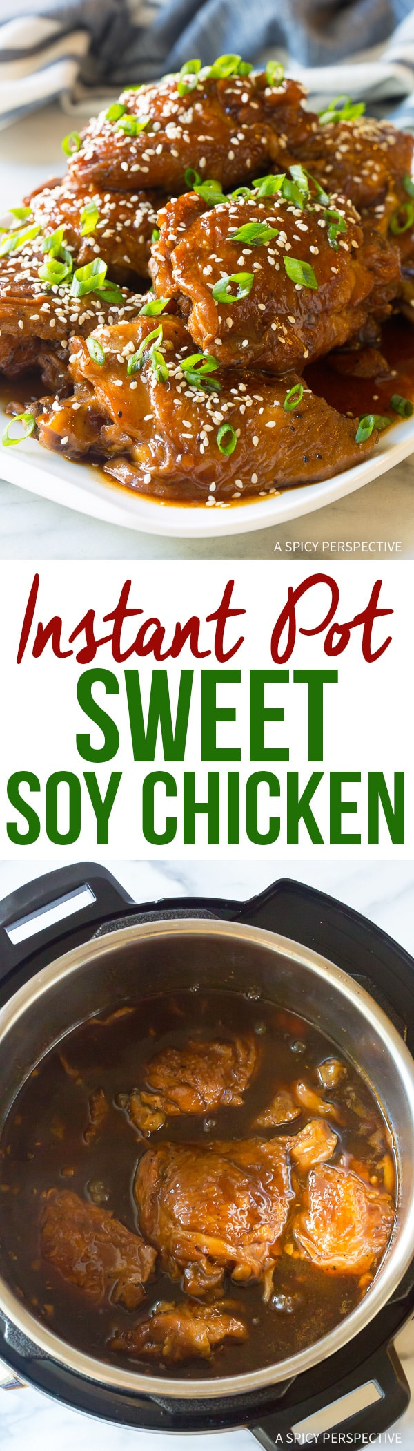 Melt-In-Your-Mouth Instant Pot Sweet Soy Chicken Thighs (Pressure Cooker Recipe)