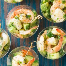 Garlic Lime Roasted Shrimp Salad Recipe for Spring and Summer!