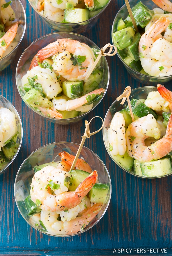 Cool Garlic Lime Roasted Shrimp Salad Recipe for Spring and Summer!