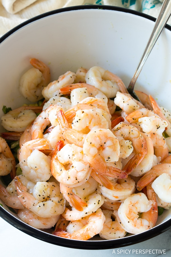 How to Make Garlic Lime Roasted Shrimp Salad Recipe for Spring and Summer!