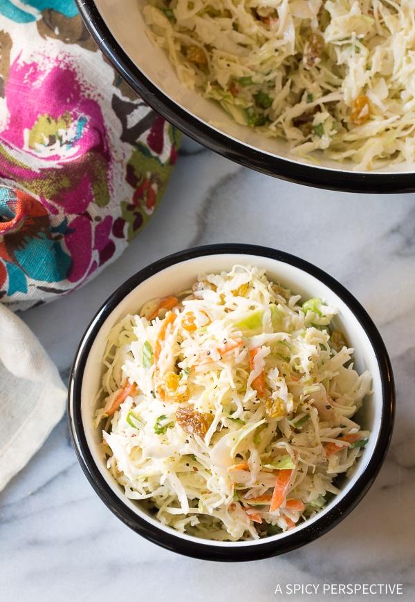 Sweet Healthy Caribbean Coleslaw Recipe (Lean, Gluten Free & Dairy Free!)