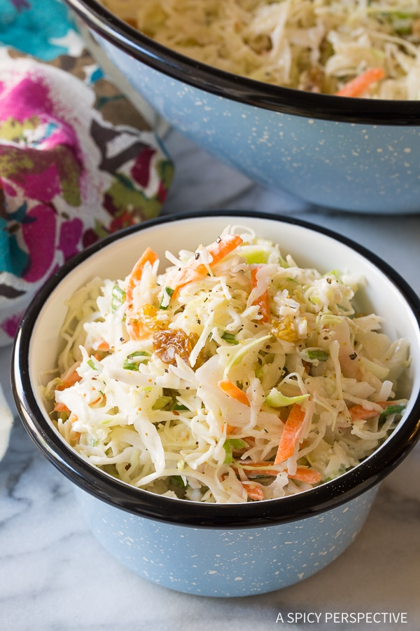 Tangy-Sweet Caribbean Coleslaw Recipe (Gluten Free & Dairy Free!)