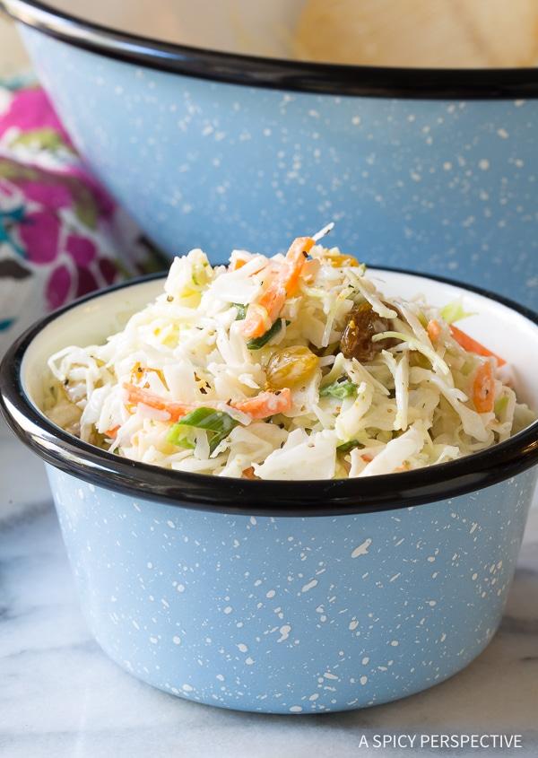 Favorite Healthy Caribbean Coleslaw Recipe (Lean, Gluten Free & Dairy Free!)