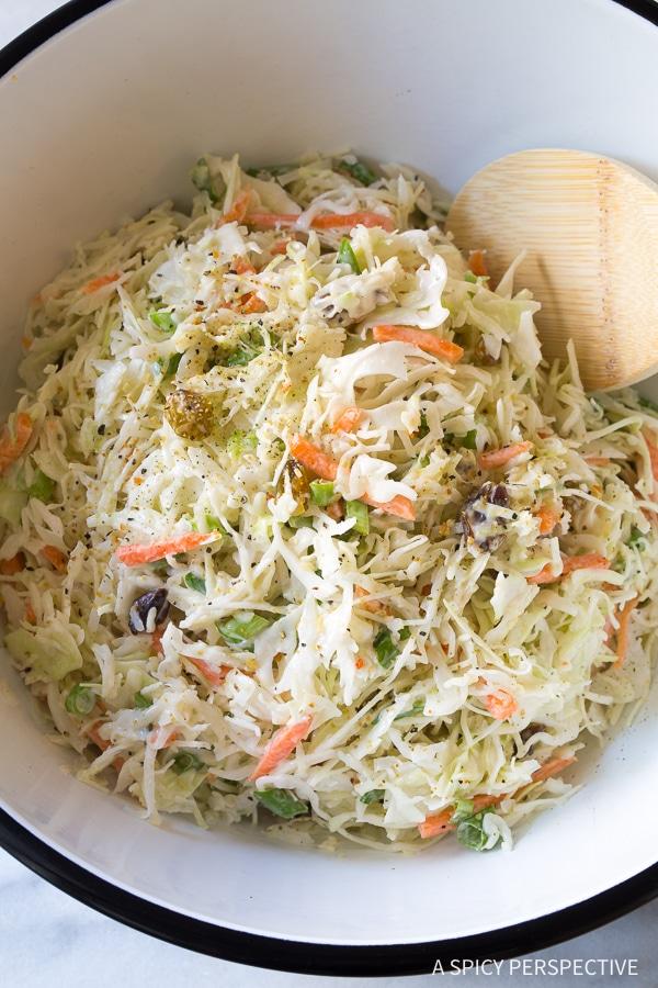 Healthy Caribbean Coleslaw Recipe (Gluten Free & Dairy Free!)