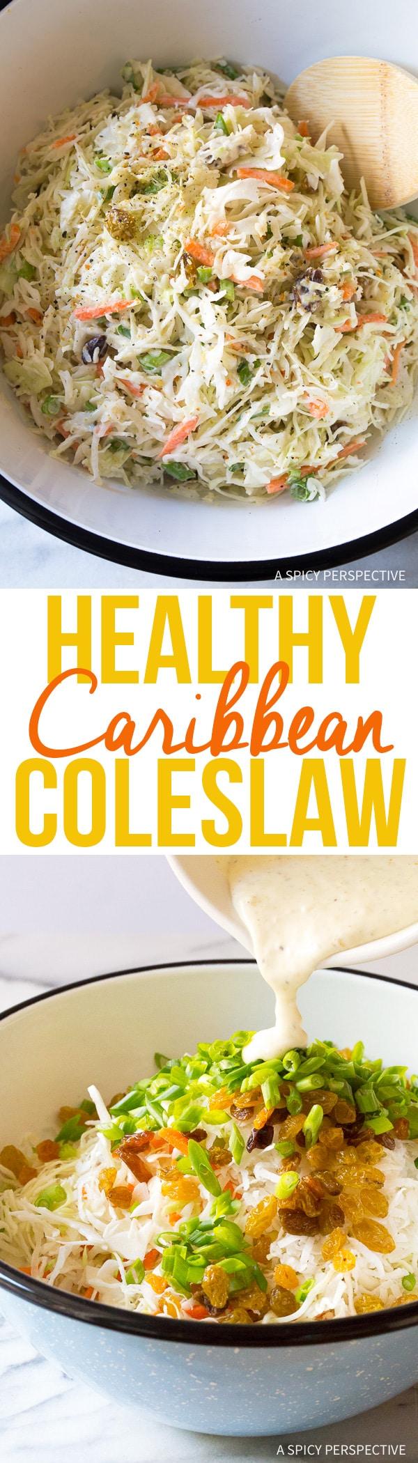 Healthy Caribbean Coleslaw Recipe (Lean, Gluten Free & Dairy Free!)
