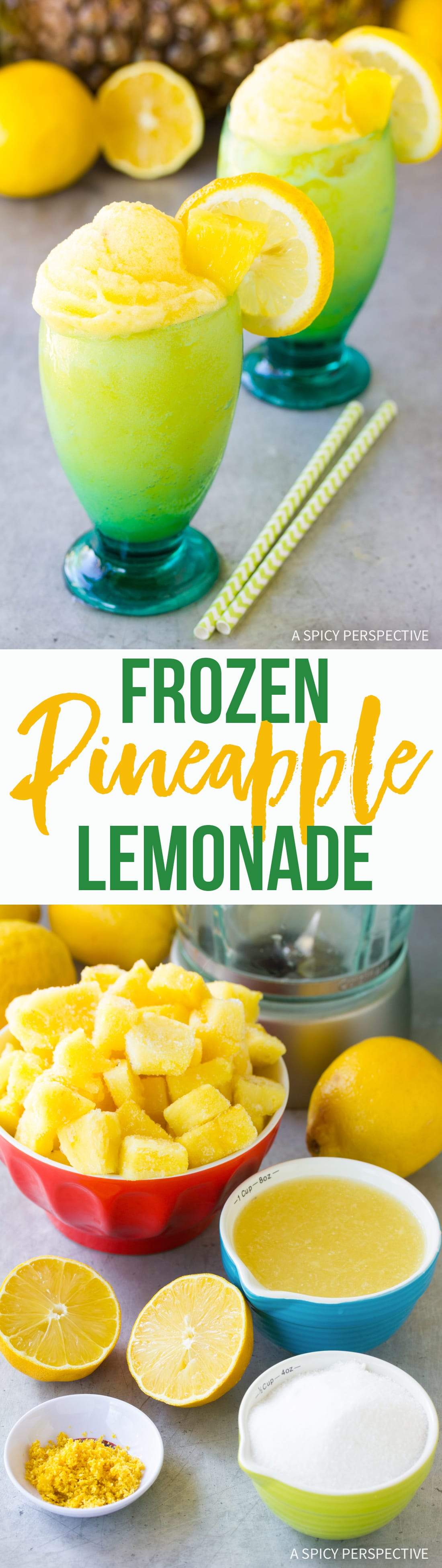 Frosty Frozen Pineapple Lemonade Recipe