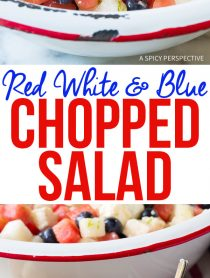 Festive Red White and Blue Chopped Salad Recipe for Independence Day! #July4th