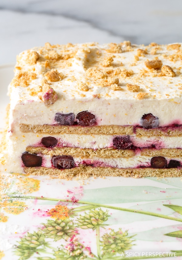 Easy Lemon Blueberry Icebox Cake Recipe for Summer!