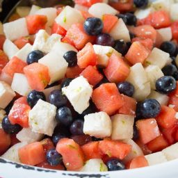 Red White and Blue Chopped Salad Recipe for Independence Day! #July4th