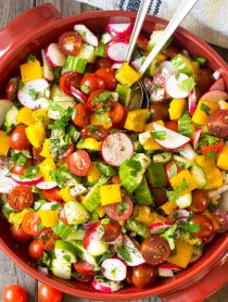 Chopped Israeli Salad with Lemon Vinaigrette Recipe #LowCarb #GlutenFree & #Vegan