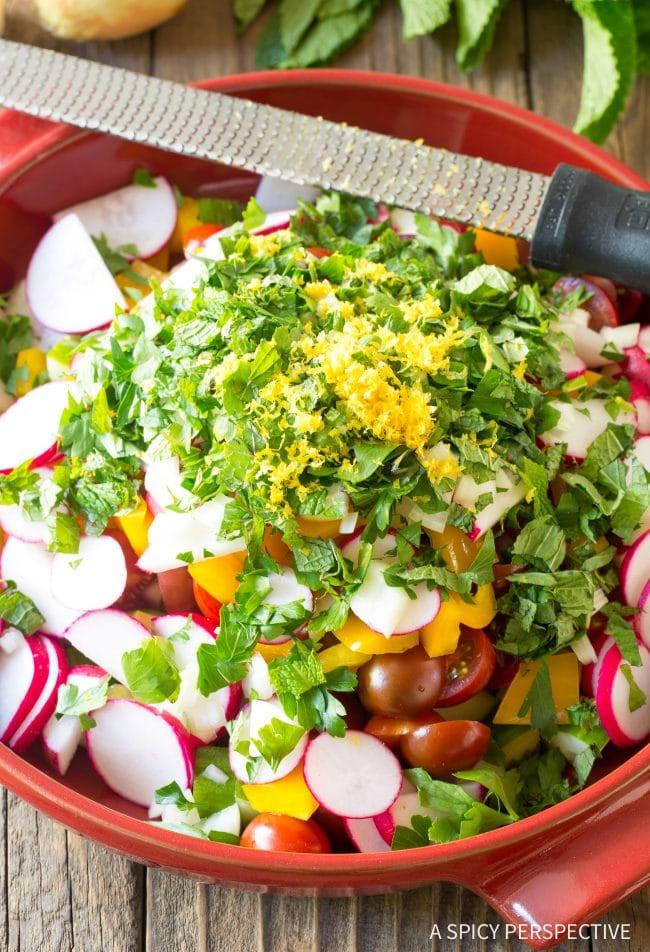 How To: Chopped Israeli Salad with Lemon Vinaigrette Recipe #LowCarb #GlutenFree & #Vegan