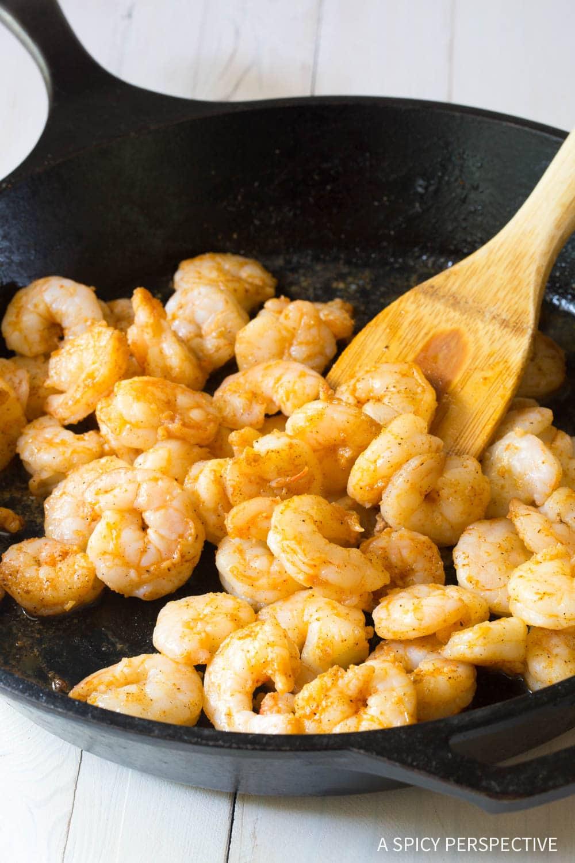 6-Ingredient Keto Creole Shrimp Stuffed Avocado Recipe #ASpicyPerspective #ketogenic