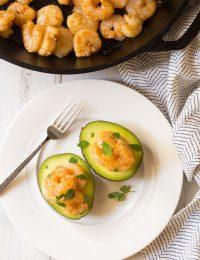 Keto Creole Shrimp Stuffed Avocado Recipe #ASpicyPerspective #ketogenic