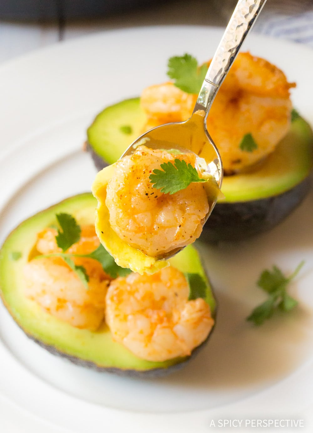 Best 6-Ingredient Keto Creole Shrimp Stuffed Avocado Recipe #ASpicyPerspective #ketogenic
