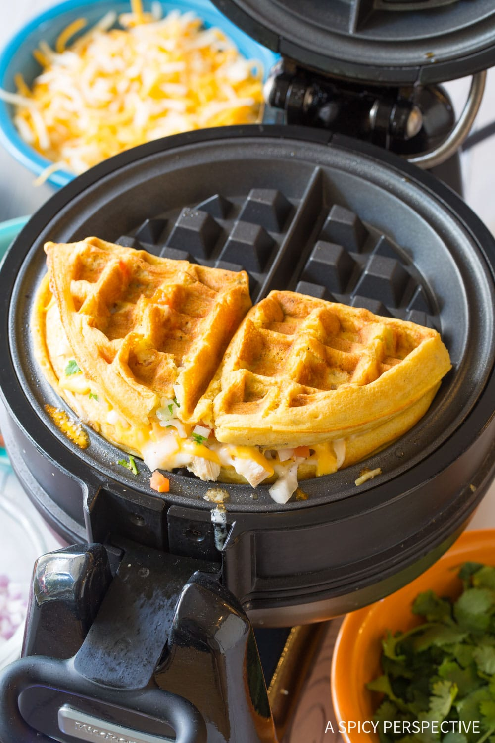Waffle Iron Quesadillas A Spicy Perspective