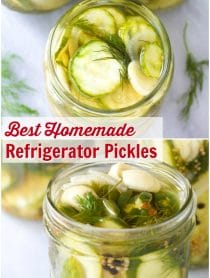 The Best Homemade Refrigerator Pickles Recipe #ASpicyPerspective