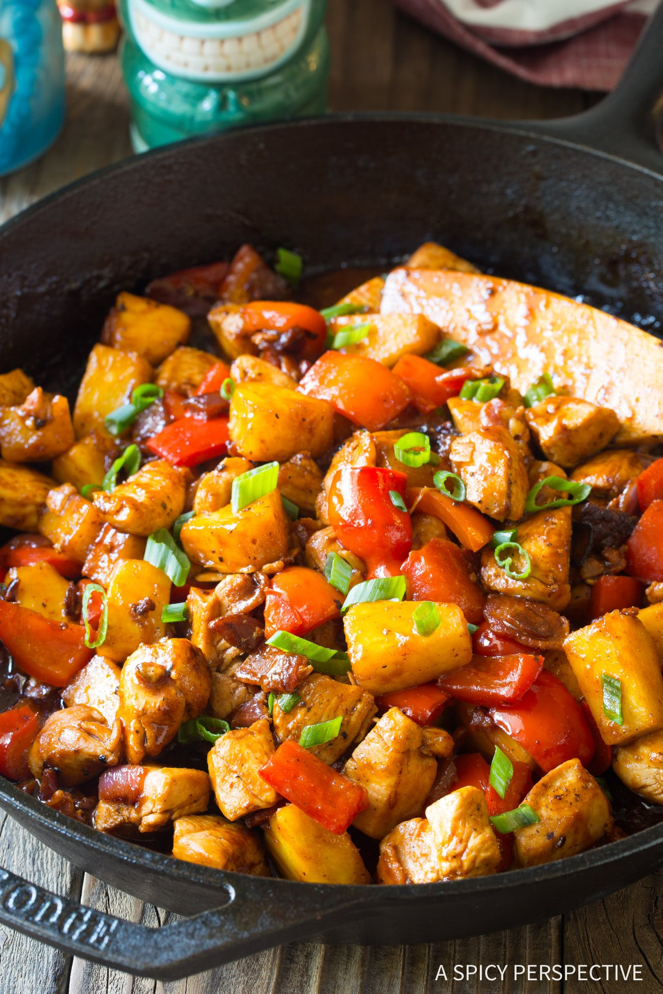 Perky One-Pot Hawaiian BBQ Chicken Skillet Recipe