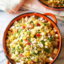 Grilled Mexican Street Corn Salad (Esquites)