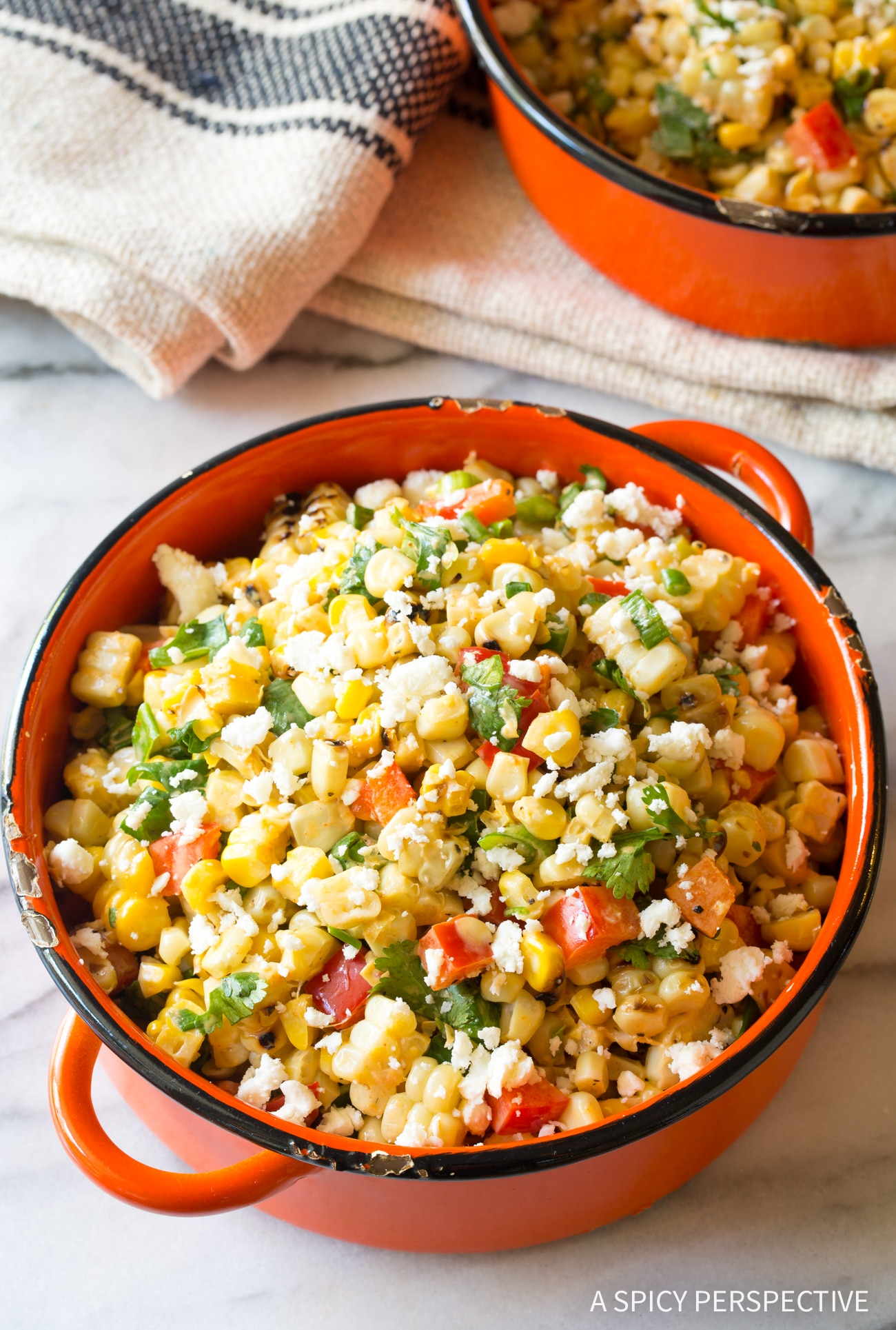 Simple Grilled Mexican Street Corn Salad