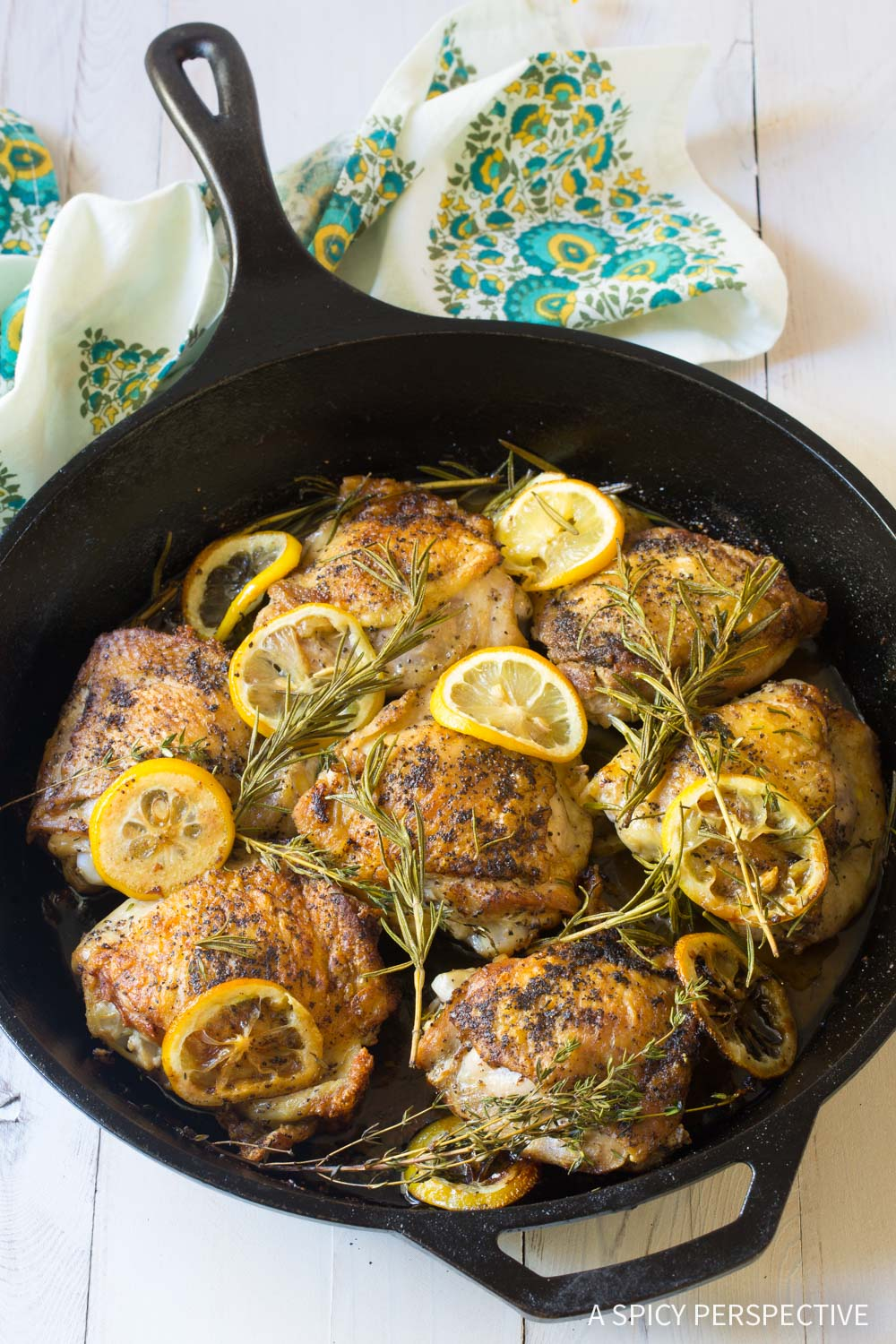 How to Cook Perfect Herb Roasted Chicken Thighs Recipe #ASpicyPerspective #Paleo #Ketogenic #Keto #GlutenFree