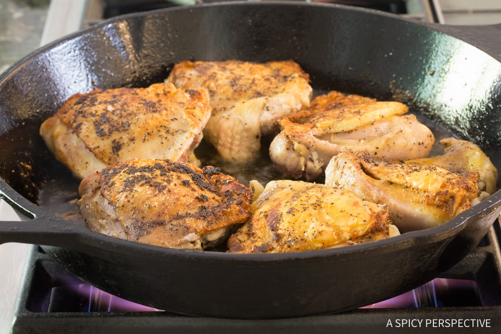 Easy Perfect Herb Roasted Chicken Thighs Recipe #ASpicyPerspective #Paleo #Ketogenic #Keto #GlutenFree