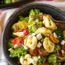 Tortellini Salad with Basil Vinaigrette Recipe
