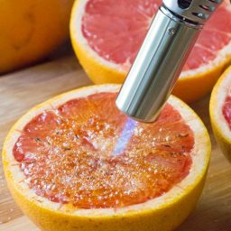 Bruleed Grapefruit (Pamplemousse Brûlé) Recipe #ASpicyPerspective #vegan #vegetarian #healthy