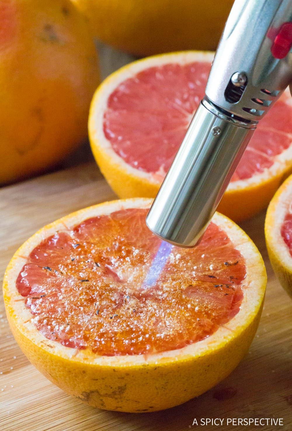 Bruleed Grapefruit (Pamplemousse Brûlé) Recipe #ASpicyPerspective #vegan #vegetarian #healthy