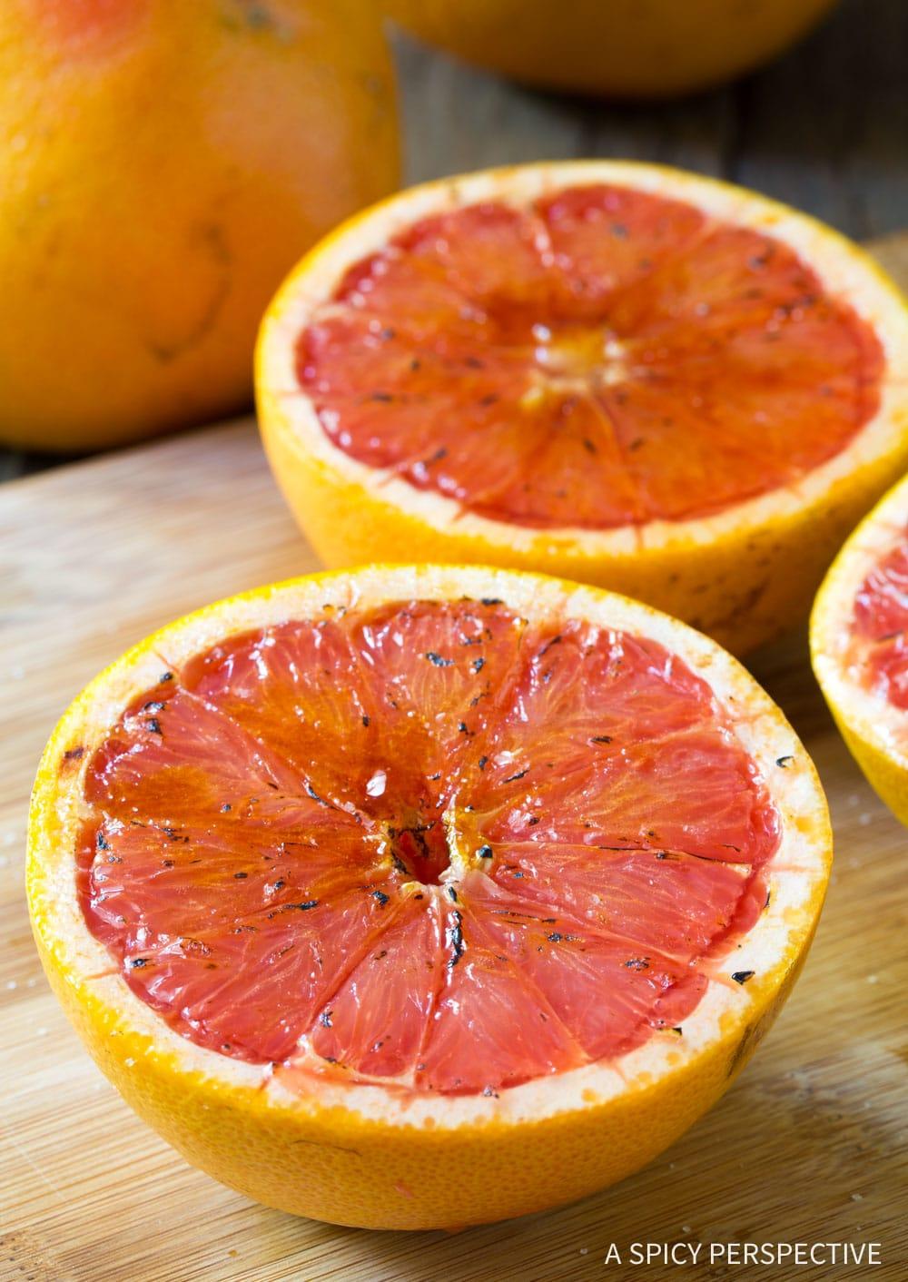 Best Bruleed Grapefruit (Pamplemousse Brûlé) Recipe #ASpicyPerspective #vegan #vegetarian #healthy