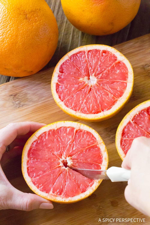 Trim: Bruleed Grapefruit (Pamplemousse Brûlé) Recipe #ASpicyPerspective #vegan #vegetarian #healthy