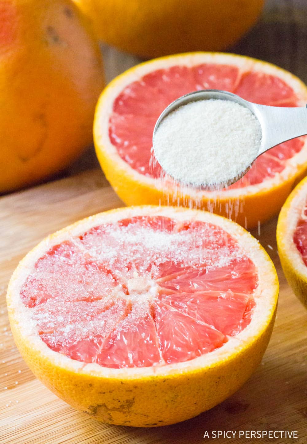 Sprinkle: Bruleed Grapefruit (Pamplemousse Brûlé) Recipe #ASpicyPerspective #vegan #vegetarian #healthy