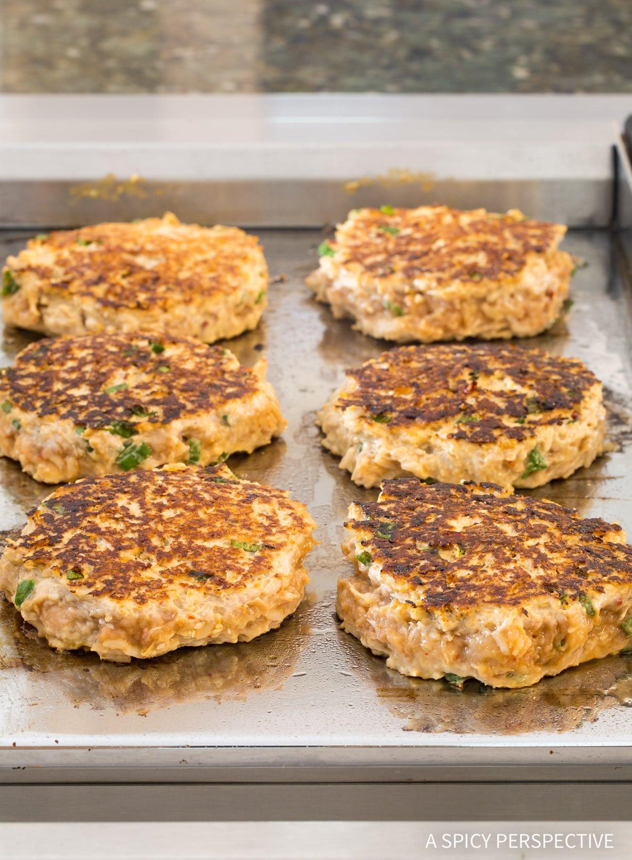 How To: Easy Sesame Chicken Burgers Recipe (Skinny Hamburgers)