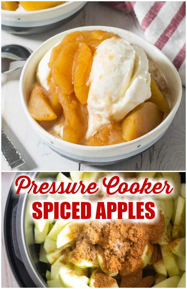 Best Pressure Cooker Spiced Apples Recipe #ASpicyPerspective