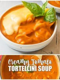 Best Creamy Tomato Tortellini Soup Recipe #ASpicyPerspective