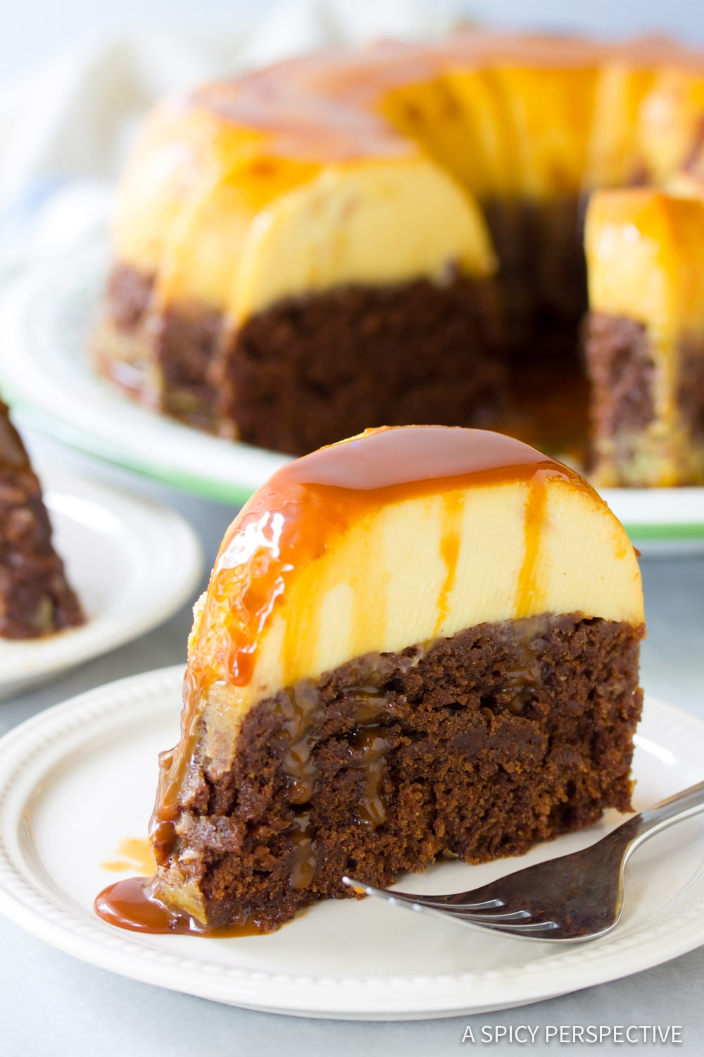 BEST Chocoflan Impossible Cake Recipe #ASpicyPerspective