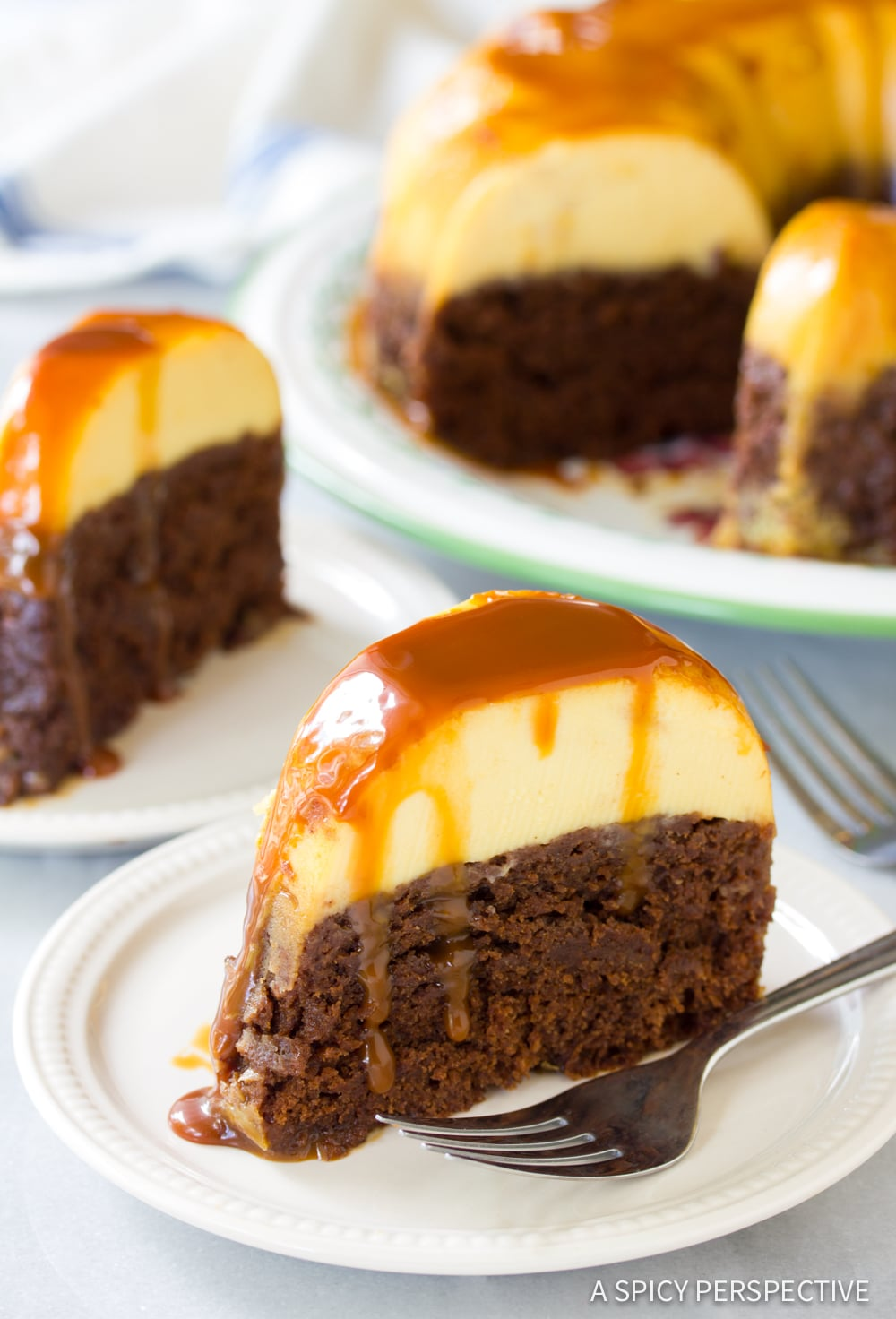 The Best Chocoflan Impossible Cake Recipe #ASpicyPerspective