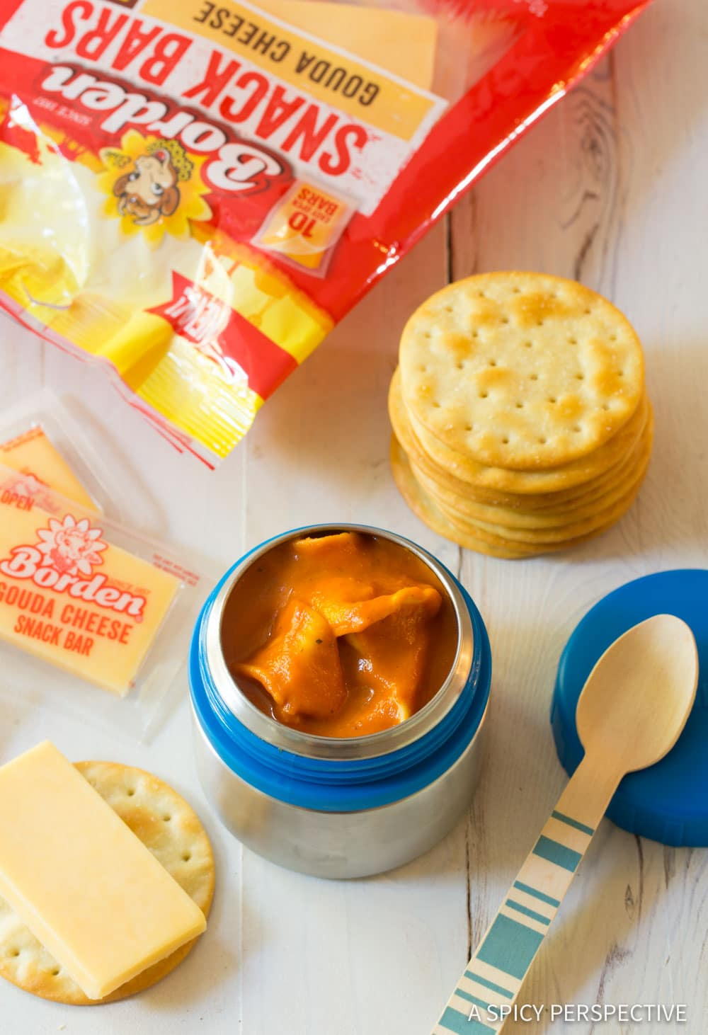 Lunchbox Creamy Tomato Tortellini Soup Recipe #ASpicyPerspective