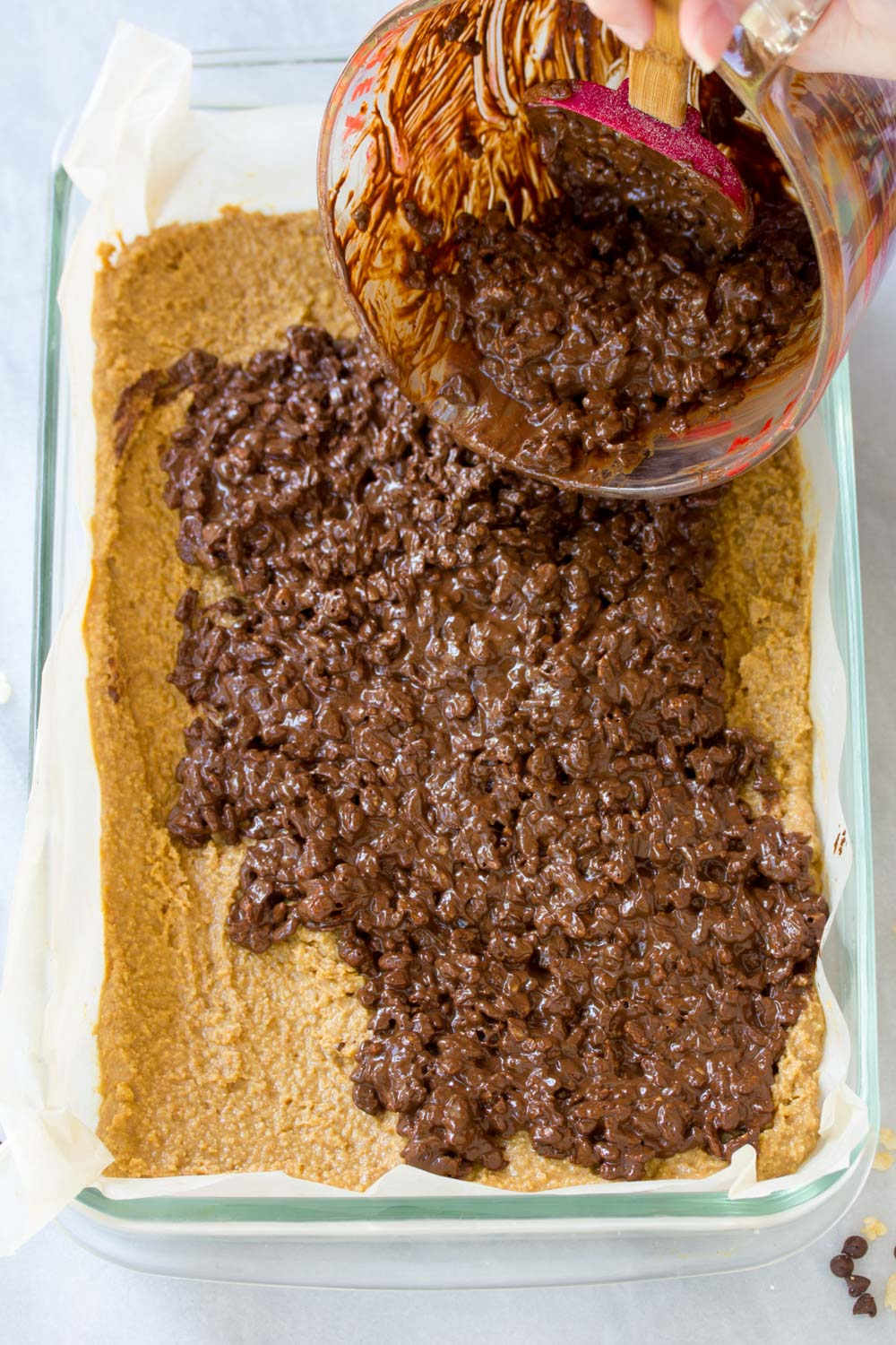 Perfect Crispy No-Bake Chocolate Peanut Butter Bars Recipe #ASpicyPerspective