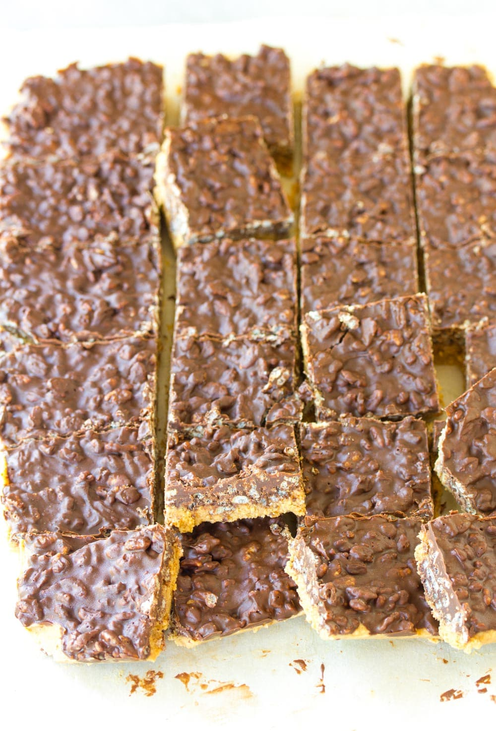 Awesome Crispy No-Bake Chocolate Peanut Butter Bars Recipe #ASpicyPerspective
