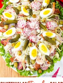 Guatemalan Fiambre Salad Recipe #ASpicyPerspective #AllSaintsDay