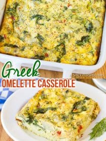 Best Greek Omelette Casserole Recipe #ASpicyPerspective