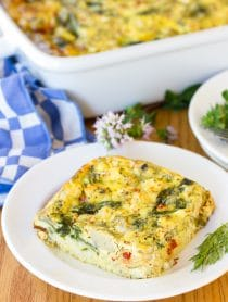 Greek Omelette Casserole Recipe #ASpicyPerspective