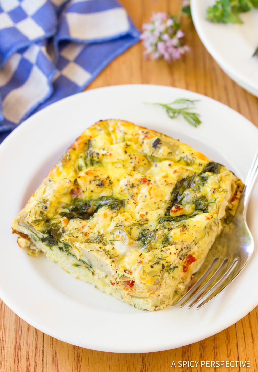 Bold Greek Omelette Casserole Recipe #ASpicyPerspective