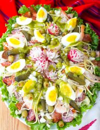 Guatemalan Fiambre Salad Recipe #ASpicyPerspective #AllSaintsDay